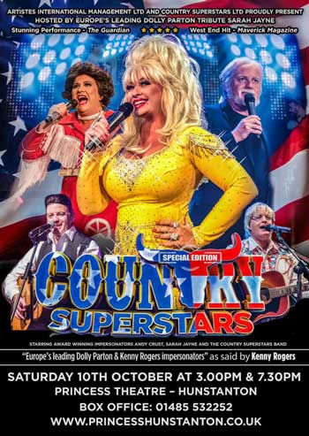 Dolly Parton tribute country music at Hunstanton