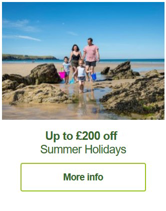 Hoseasons holiday offer on lodges