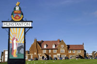 Hunstanton Town Sign, Green, Golden Lion
